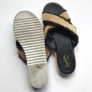 Seychelles Shoes - Seychelles Raw Fray Metallic Sandals Slides